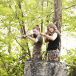 hunting girls portrait