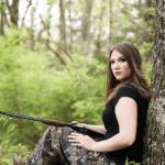 senior portraits hunting gun rifle