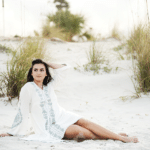 sand goddess senior photo