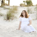white sand senior portraits